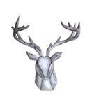 Watercolor deer head royalty free illustration