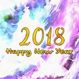 Watercolor/2018 del buon anno illustrazione di stock