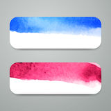 Watercolor Design Banners Stock Photo