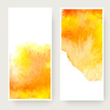 Watercolor design banners Stock Images