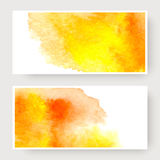 Watercolor design banners Royalty Free Stock Photo