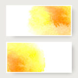 Watercolor design banners Stock Image
