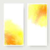 Watercolor design banners Royalty Free Stock Images
