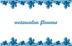 Watercolor design element for the realization Stock Photos