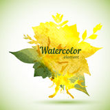 Watercolor design element for the realization Royalty Free Stock Photo