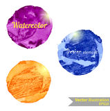Watercolor design element for the realization Royalty Free Stock Photos