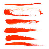 Watercolor design element  red brush for the realization Royalty Free Stock Image