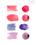 Watercolor design elements. Beautiful watercolor design elements. Vector Watercolor Background. Vector illustration eps10 Stock Photo