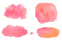 Watercolor design elements Royalty Free Stock Images