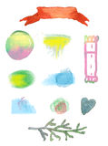 Watercolor design elements for sale Royalty Free Stock Images