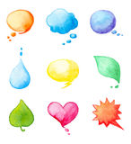 Watercolor design elements Stock Photos
