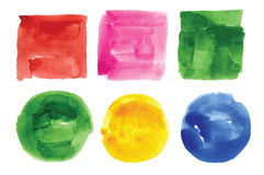 Watercolor design elements Stock Image