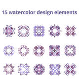 Watercolor design elements Royalty Free Stock Photo