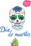 Watercolor Dia de muertos, mexican holiday, colored skull Royalty Free Stock Image