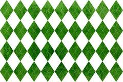 Watercolor diamond pattern. Stock Image