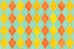 Watercolor diamond pattern. Royalty Free Stock Image