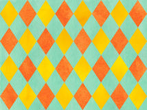 Watercolor diamond pattern. Stock Images