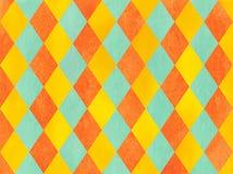 Watercolor diamond pattern. Stock Photography