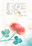 Watercolor Diary. Geranium. Royalty Free Stock Images
