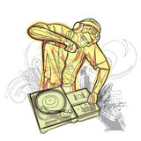 Watercolor Dj Battle Stock Photography