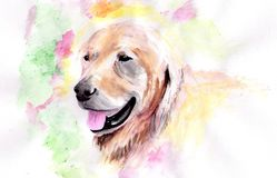 Watercolor dog. Hand draw illustration Royalty Free Stock Image