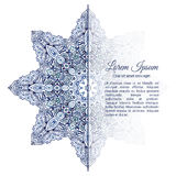 Watercolor doodle decorative border. Blue snowflake watercolor doodle decorative border Stock Photos