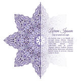 Watercolor doodle decorative border. Violet snowflake watercolor doodle decorative border Stock Photos