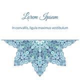 Watercolor doodle decorative pattern. Aqua snowflake watercolor doodle decorative pattern Stock Photography