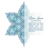 Watercolor doodle decorative pattern. Turquoise snowflake watercolor doodle decorative pattern Stock Photo