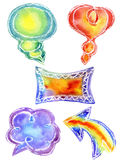 Watercolor Doodle frames. For the text Royalty Free Stock Photo