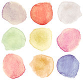 Watercolor dots Royalty Free Stock Photography