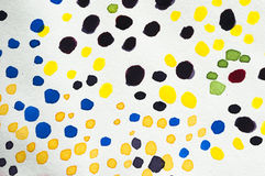 Watercolor dots Stock Images