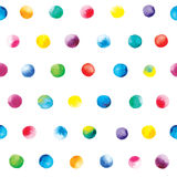 Watercolor dots pattern. Colorful polka dot pattern on a white background vector illustration