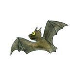 Watercolor drawing bat Stock Image