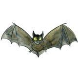 Watercolor drawing bat Stock Photography