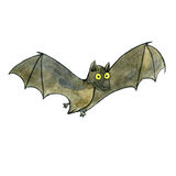 Watercolor drawing bat Royalty Free Stock Images