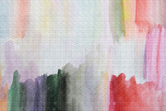 Watercolor drawing on the canvas. Stock Photography