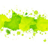 Watercolor drawing green tape with splashes Royalty Free Stock Images