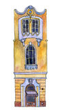 Watercolor drawing house Royalty Free Stock Image