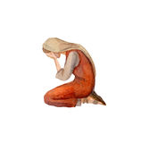 Watercolor Drawing Of Woman In Ancient Clothes Royalty Free Stock Photo
