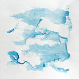 Watercolor drawing on the paper. Royalty Free Stock Image