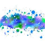 Watercolor drawing winter wind tape with splashes Royalty Free Stock Photo