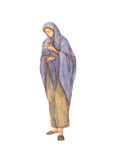 Watercolor drawing of woman in ancient clothes Royalty Free Stock Photography