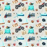 Watercolor drawings. pattern of travel stock illustration