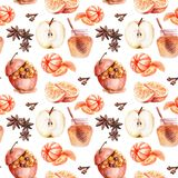 Watercolor drawings on the theme of Christmas sweets stock illustration