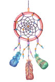 Watercolor dream catcher. Hand drawn  illustration. Royalty Free Stock Photo