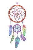 Watercolor dream catcher. Hand drawn  illustration. Royalty Free Stock Image