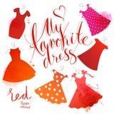 Watercolor dress Royalty Free Stock Photo
