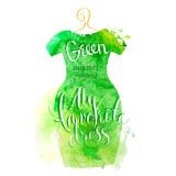 Watercolor dress Stock Photography