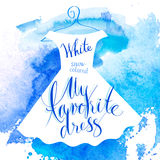 Watercolor dress Royalty Free Stock Photos